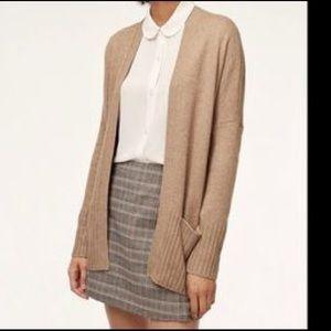 Aritzia - Talula Brown Long Knit Cardigan